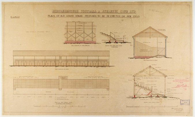 6 - Archibald Leitch's Ayresome Park plans from Teesside Archives' collections feature in Art of Ayresome